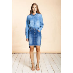 Lou Skirt Blue Denim - Blue River
