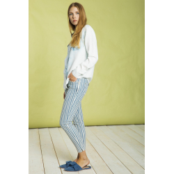 Chloe Skinny Indigo Stripes - Indigo Stripes