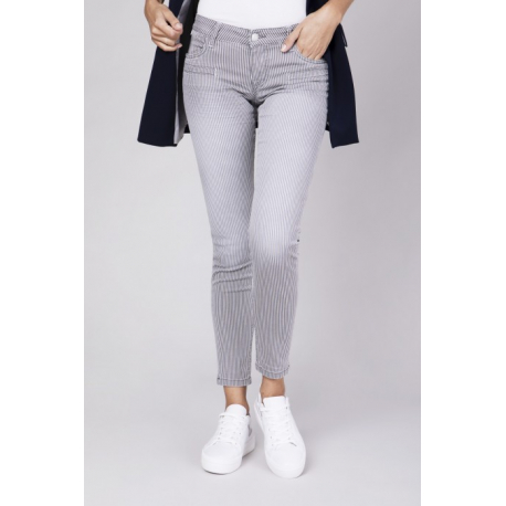 Alicia Skinny Grey Stripes - Vintage Stripes